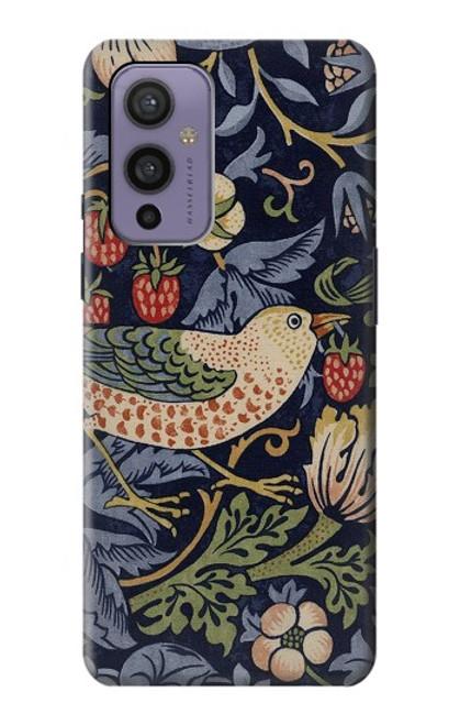 S3791 William Morris Strawberry Thief Fabric Case For OnePlus 9