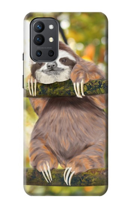 S3138 Cute Baby Sloth Paint Case For OnePlus 9R