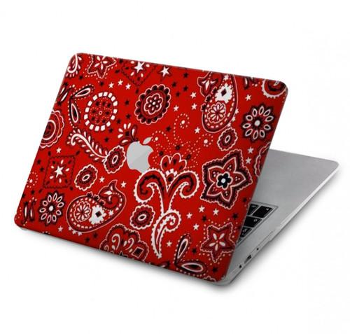 S3354 Red Classic Bandana Hard Case For MacBook Pro 13″ - A1706, A1708, A1989, A2159, A2289, A2251, A2338