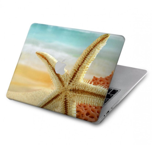 S1117 Starfish on the Beach Hard Case For MacBook Pro 15″ - A1707, A1990