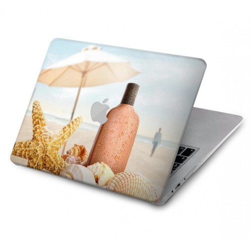 S1425 Seashells on The Beach Hard Case For MacBook Pro 15″ - A1707, A1990