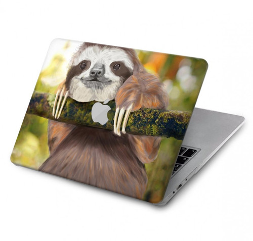 S3138 Cute Baby Sloth Paint Hard Case For MacBook Pro 15″ - A1707, A1990