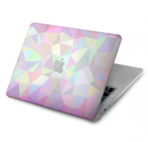 S3747 Trans Flag Polygon Hard Case For MacBook Pro 16″ - A2141