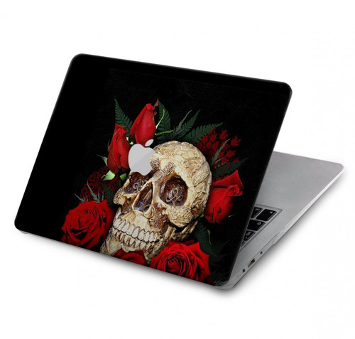 S3753 Dark Gothic Goth Skull Roses Hard Case For MacBook Pro 16″ - A2141