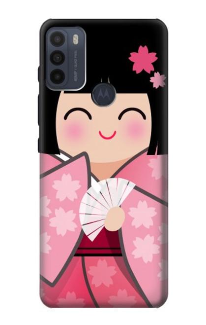 S3042 Japan Girl Hina Doll Kimono Sakura Case For Motorola Moto G50