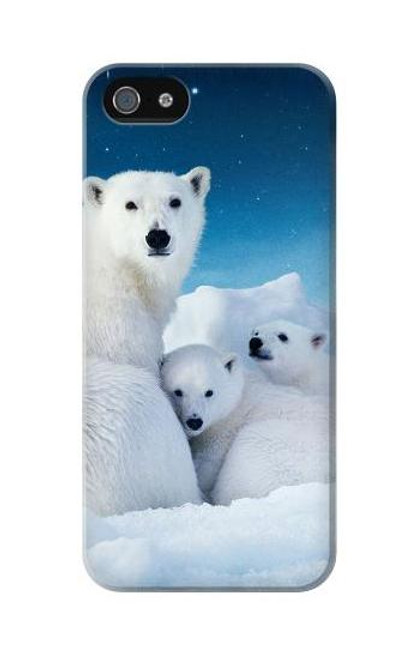 S0285 Polar Bear Family Arctic Case Cover For IPHONE 5C