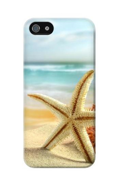 S1117 Starfish on the Beach Case Cover For IPHONE 5C