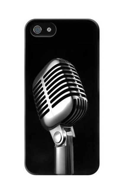 S1672 Retro Microphone Jazz Music Case Cover For IPHONE 5C