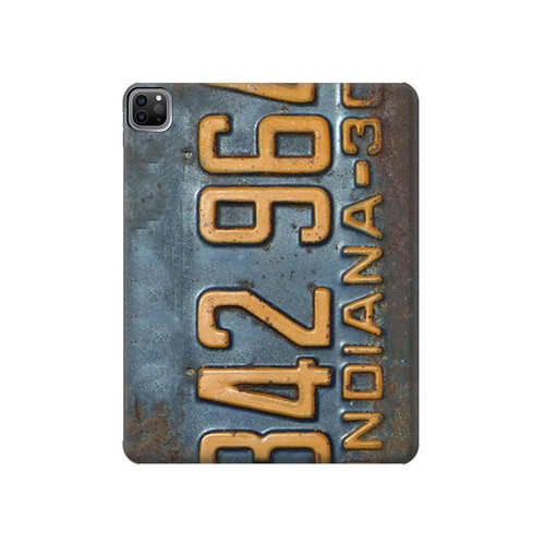 S3750 Vintage Vehicle Registration Plate Hard Case For iPad Pro 12.9 (2021)