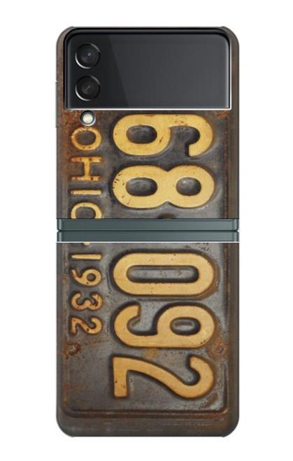 S3228 Vintage Car License Plate Case For Samsung Galaxy Z Flip 3 5G