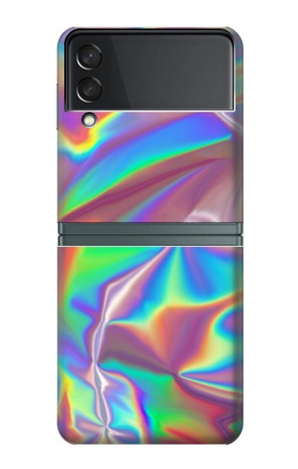 S3597 Holographic Photo Printed Case For Samsung Galaxy Z Flip 3 5G