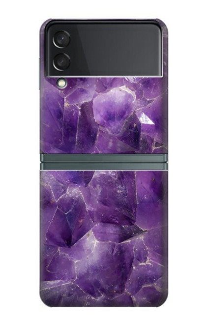 S3713 Purple Quartz Amethyst Graphic Printed Case For Samsung Galaxy Z Flip 3 5G