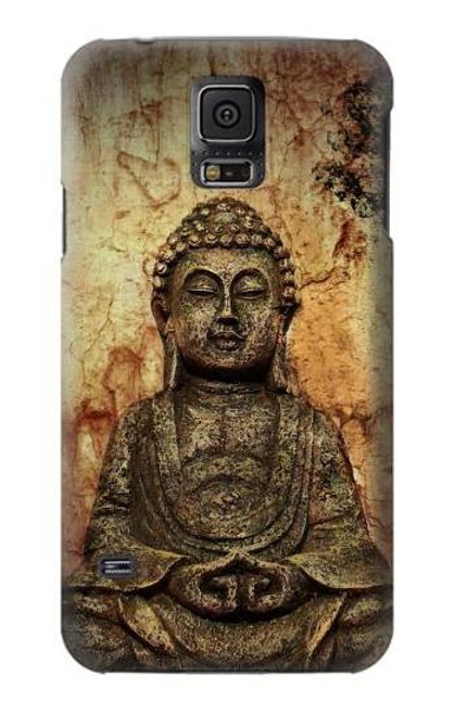 S0344 Buddha Rock Carving Case For Samsung Galaxy S5