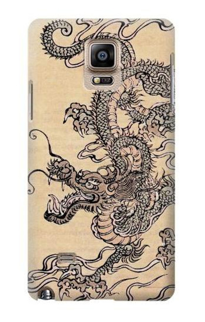 S0318 Antique Dragon Case For Samsung Galaxy Note 4