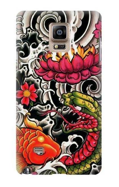 S0605 Yakuza Tattoo Case For Samsung Galaxy Note 4
