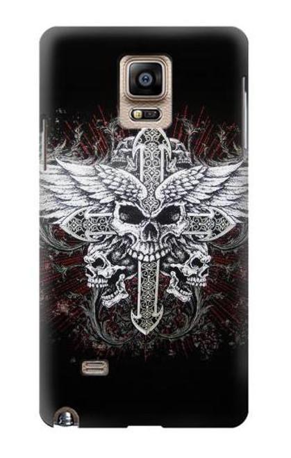 S1434 Skull Wing Tattoo Biker Case For Samsung Galaxy Note 4