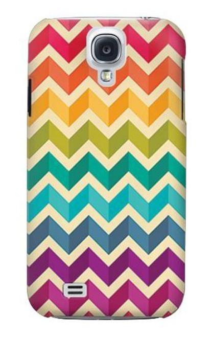 S2362 Rainbow Colorful Shavron Zig Zag Case For Samsung Galaxy S4