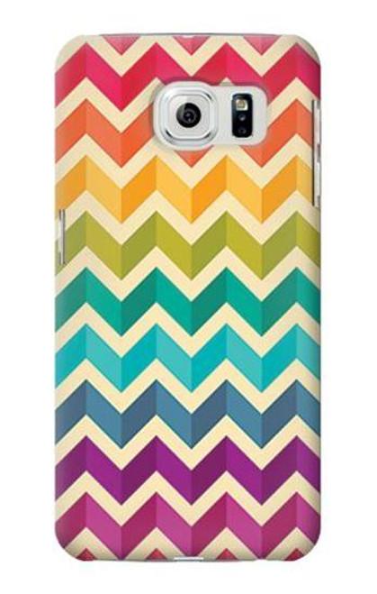 S2362 Rainbow Colorful Shavron Zig Zag Case For Samsung Galaxy S6