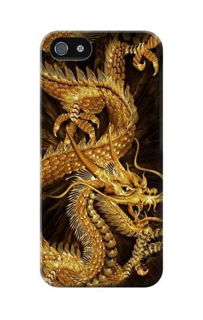 S2804 Chinese Gold Dragon Printed Case For IPHONE 5C