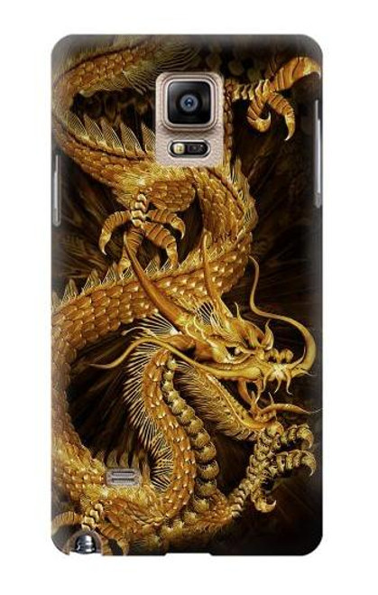 S2804 Chinese Gold Dragon Printed Case For Samsung Galaxy Note 4