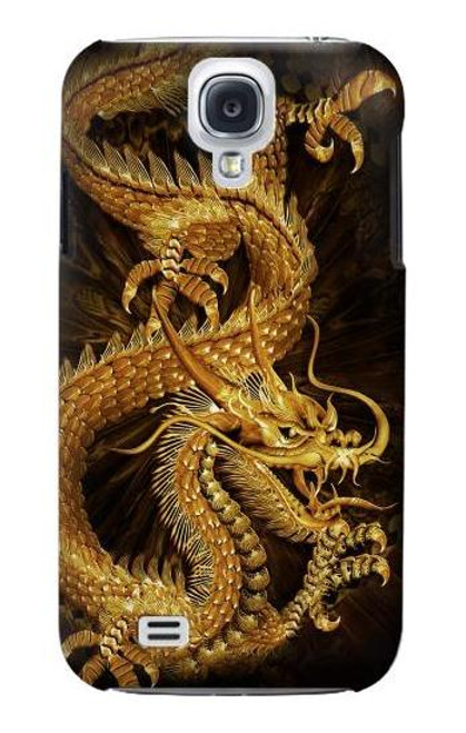 S2804 Chinese Gold Dragon Printed Case For Samsung Galaxy S4