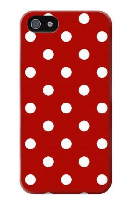 S2951 Red Polka Dots Case For IPHONE 5 5s SE