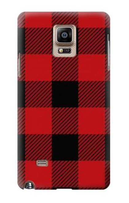 S2931 Red Buffalo Check Pattern Case For Samsung Galaxy Note 4