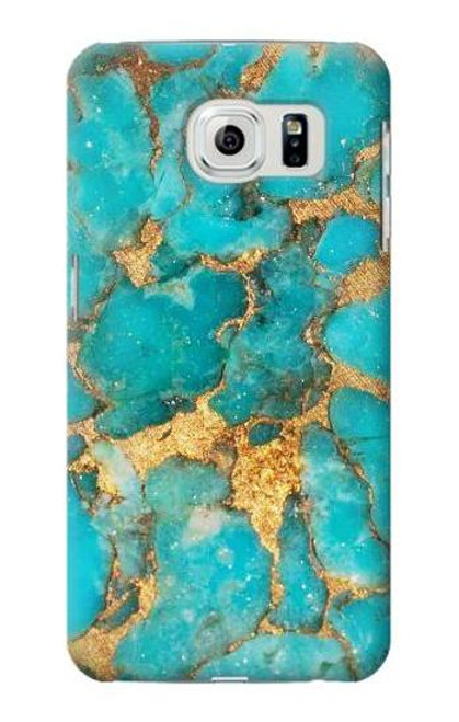 S2906 Aqua Turquoise Stone Case For Samsung Galaxy S6