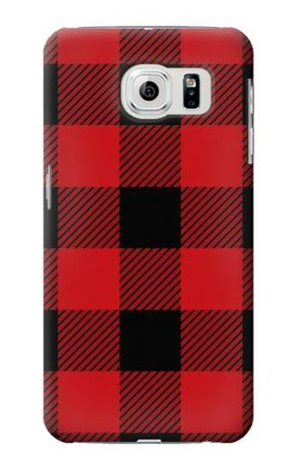 S2931 Red Buffalo Check Pattern Case For Samsung Galaxy S6 Edge