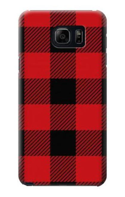 S2931 Red Buffalo Check Pattern Case For Samsung Galaxy S6 Edge Plus
