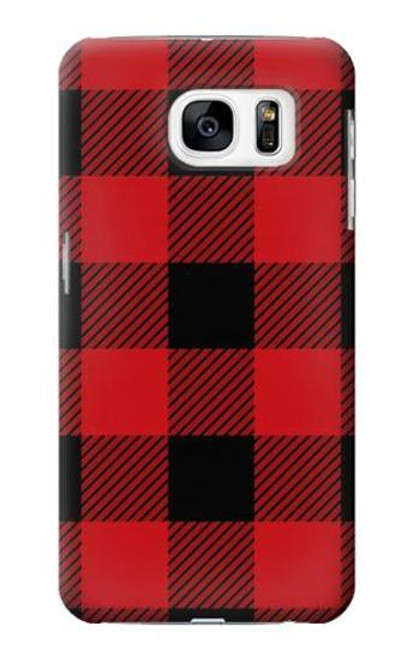 S2931 Red Buffalo Check Pattern Case For Samsung Galaxy S7