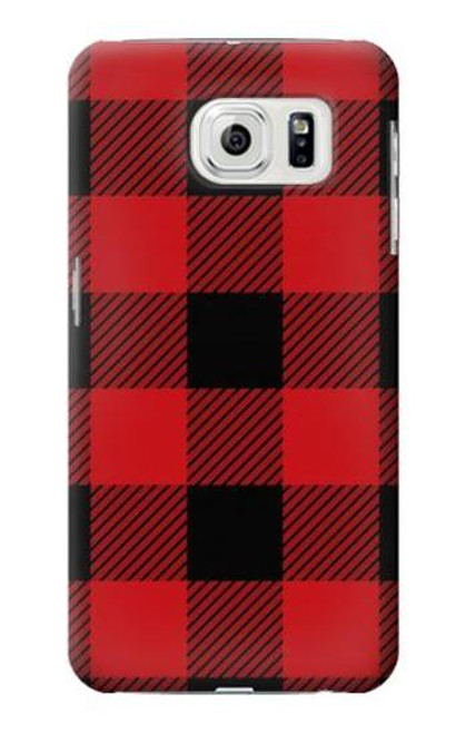S2931 Red Buffalo Check Pattern Case For Samsung Galaxy S7 Edge