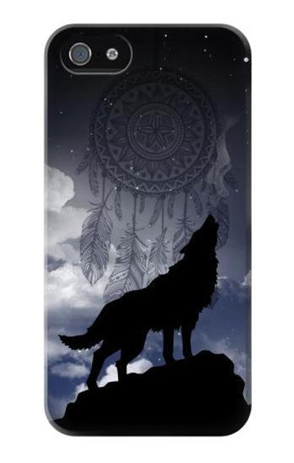 S3011 Dream Catcher Wolf Howling Case For IPHONE 5 5s SE