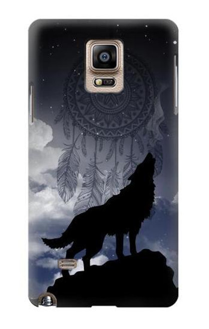 S3011 Dream Catcher Wolf Howling Case For Samsung Galaxy Note 4