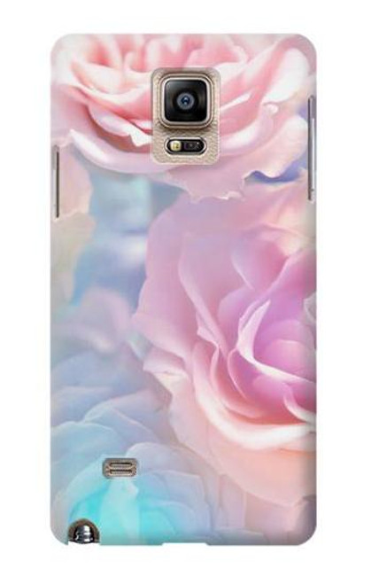 S3050 Vintage Pastel Flowers Case For Samsung Galaxy Note 4