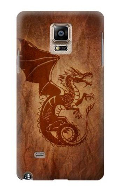 S3086 Red Dragon Tattoo Case For Samsung Galaxy Note 4