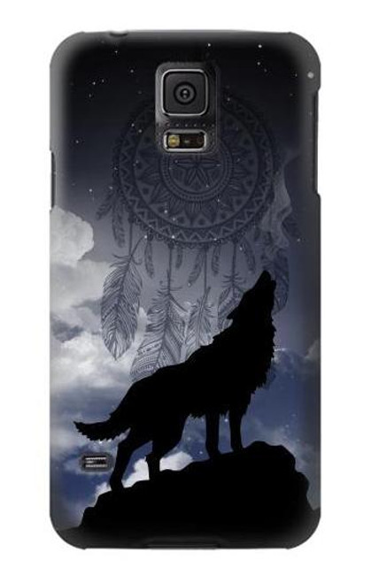 S3011 Dream Catcher Wolf Howling Case For Samsung Galaxy S5