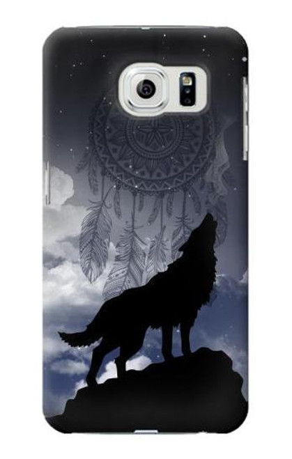 S3011 Dream Catcher Wolf Howling Case For Samsung Galaxy S6 Edge
