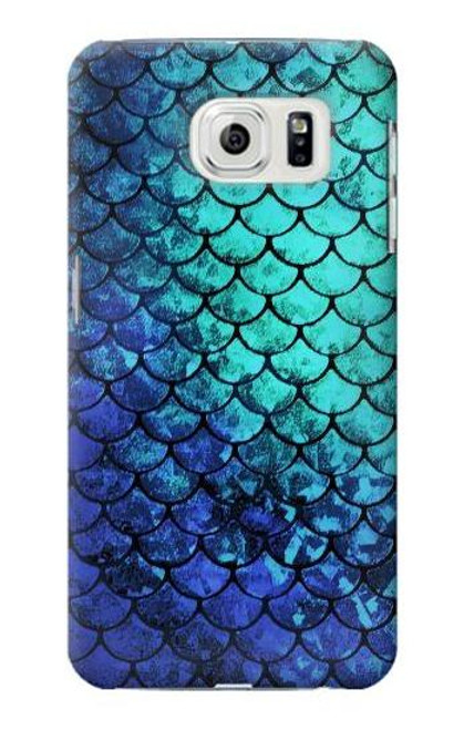 S3047 Green Mermaid Fish Scale Case For Samsung Galaxy S7 Edge