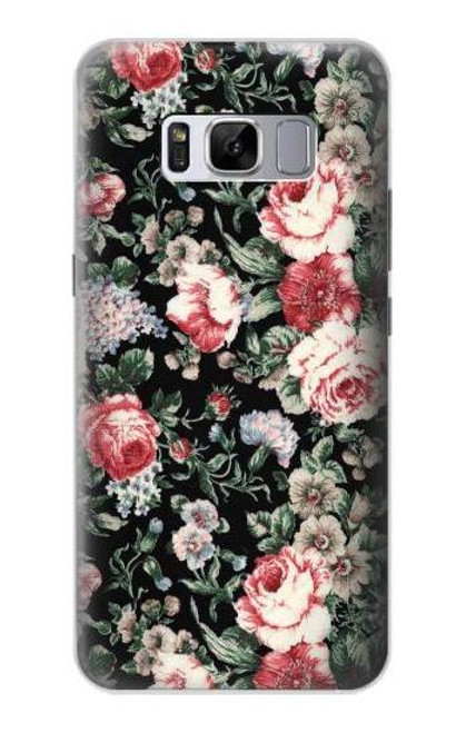 S2727 Vintage Rose Pattern Case For Samsung Galaxy S8 Plus