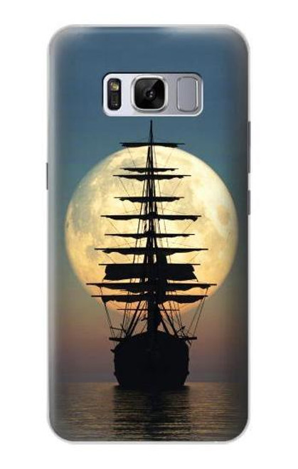 S2897 Pirate Ship Moon Night Case For Samsung Galaxy S8 Plus