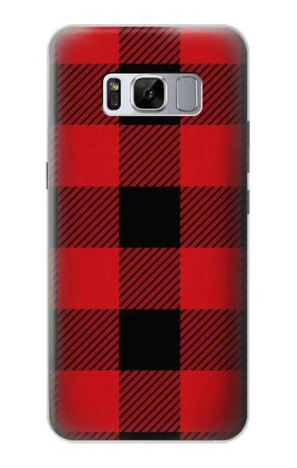 S2931 Red Buffalo Check Pattern Case For Samsung Galaxy S8 Plus