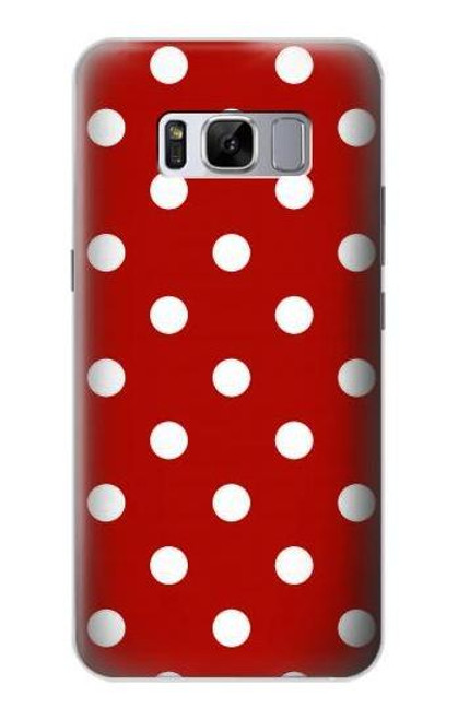 S2951 Red Polka Dots Case For Samsung Galaxy S8 Plus