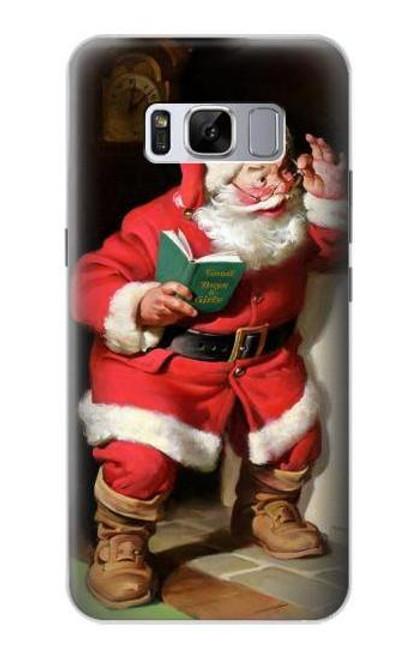 S1417 Santa Claus Merry Xmas Case For Samsung Galaxy S8