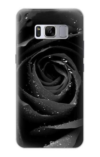 S1598 Black Rose Case For Samsung Galaxy S8