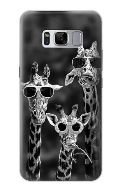 S2327 Giraffes With Sunglasses Case For Samsung Galaxy S8