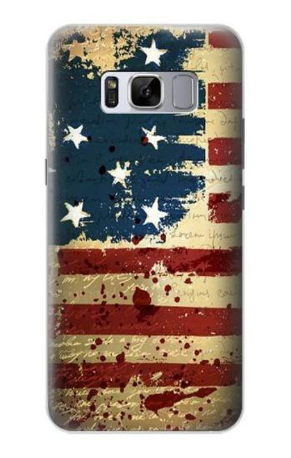 S2349 Old American Flag Case For Samsung Galaxy S8