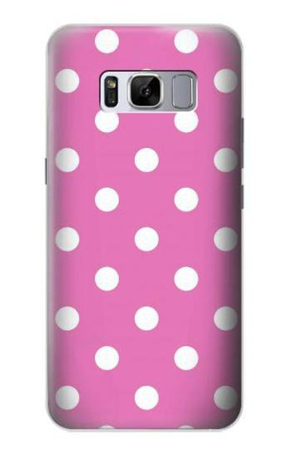 S2358 Pink Polka Dots Case For Samsung Galaxy S8