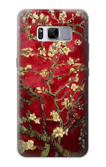 S2414 Red Blossoming Almond Tree Van Gogh Case For Samsung Galaxy S8