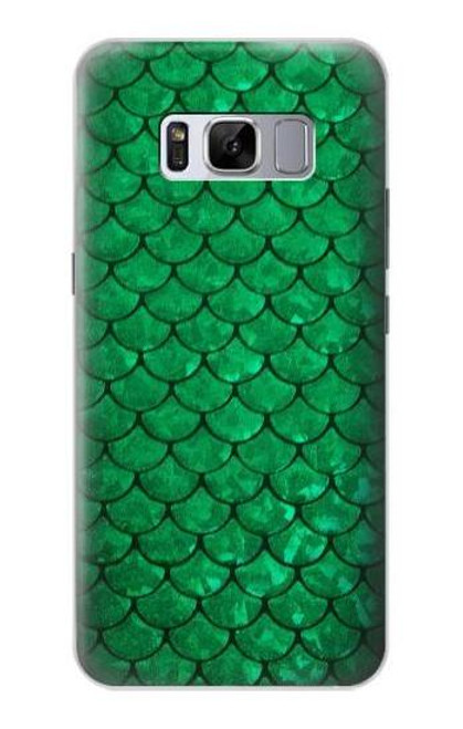 S2704 Green Fish Scale Pattern Graphic Case For Samsung Galaxy S8